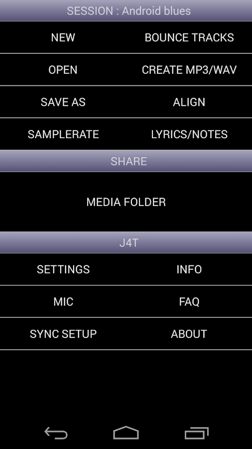 J4T Multitrack Recorder Screenshot 1