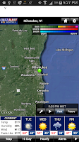 Screenshot of CBS58 Weather