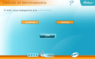 Screenshot of Orthographe CE1
