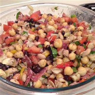New Year Three-Bean and Artichoke Salad