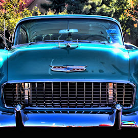 Stare Down by Mike Canter - Transportation Automobiles ( las vegas, bel air, car show, chevy, halloween,  )