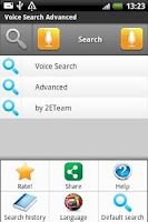 Screenshot of Voice Search Advanced