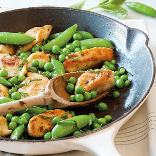 Sautéed Chicken Tenders with Peas and Mint