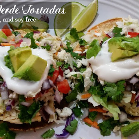 Chicken Verde Tostadas