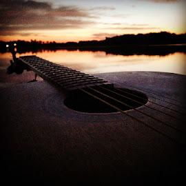 Strings at Sunrise by Carsten Johnson - Instagram & Mobile iPhone