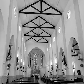 Curacao church by Suzanne Black - Black & White Buildings & Architecture ( interior, building, worship )