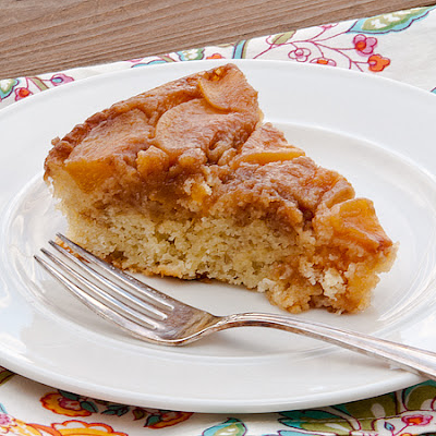 Caramelized Peach Upside-Down Coffee Cake