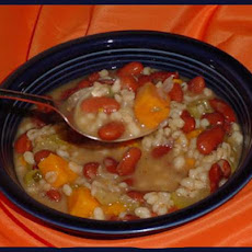 Kidney Bean, Barley, and Sweet Potato Stew