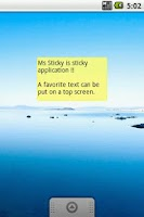 Screenshot of Ms Sticky (Postit app)