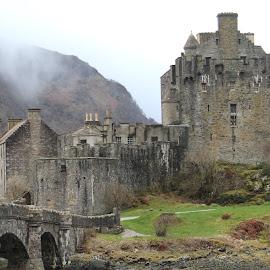 Eilean Doonan in the Fog by Chris Torrie - Buildings & Architecture Other Exteriors ( scotland, fog, doonan, castle )