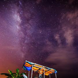 MilkyWay powered Vehicle by Ivan Lim - Landscapes Starscapes ( milkyway, paddy field, stars, penang, balik pulau )