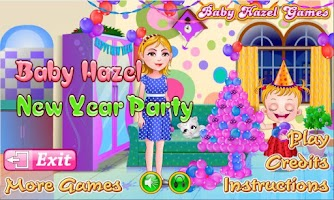 Screenshot of Baby Hazel New year Party