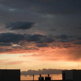 sky above my head by Kasia Haldas - City,  Street & Park  Skylines ( clouds, purple, art, fun, storm, creativity, lights, sky, lighting, color, artistic, darkness, light, mood factory )