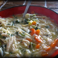 Warm Homestyle Chicken Noodle Soup