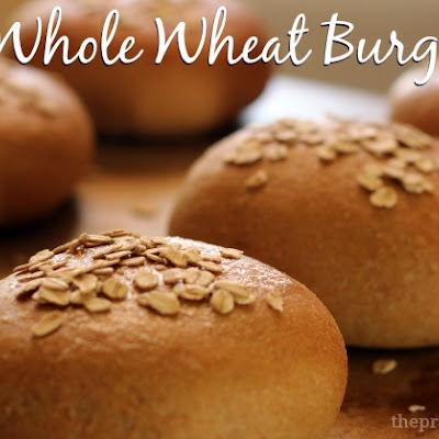Honey Whole Wheat Hamburger Buns