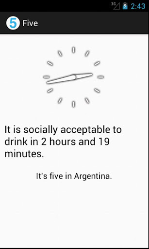 Five - Time to drink
