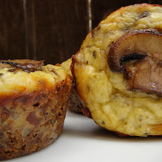 Mushroom and Sourdough Crusted Cremini Mini Quiches
