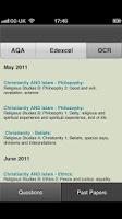 Screenshot of GCSE RS