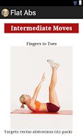 Screenshot of Flat abs workout for women