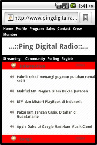 Ping Digital Radio