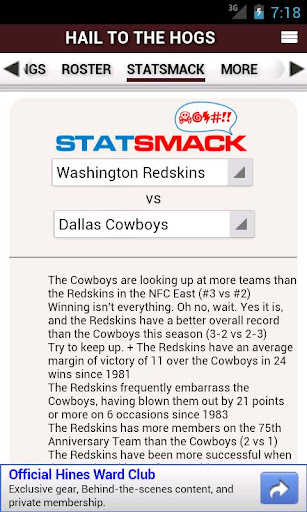 免費運動App|Redskins by StatSheet|阿達玩APP