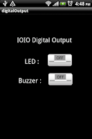 Screenshot of IOIO Digital output