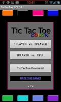 Screenshot of TicTacToe MULTICOLOR