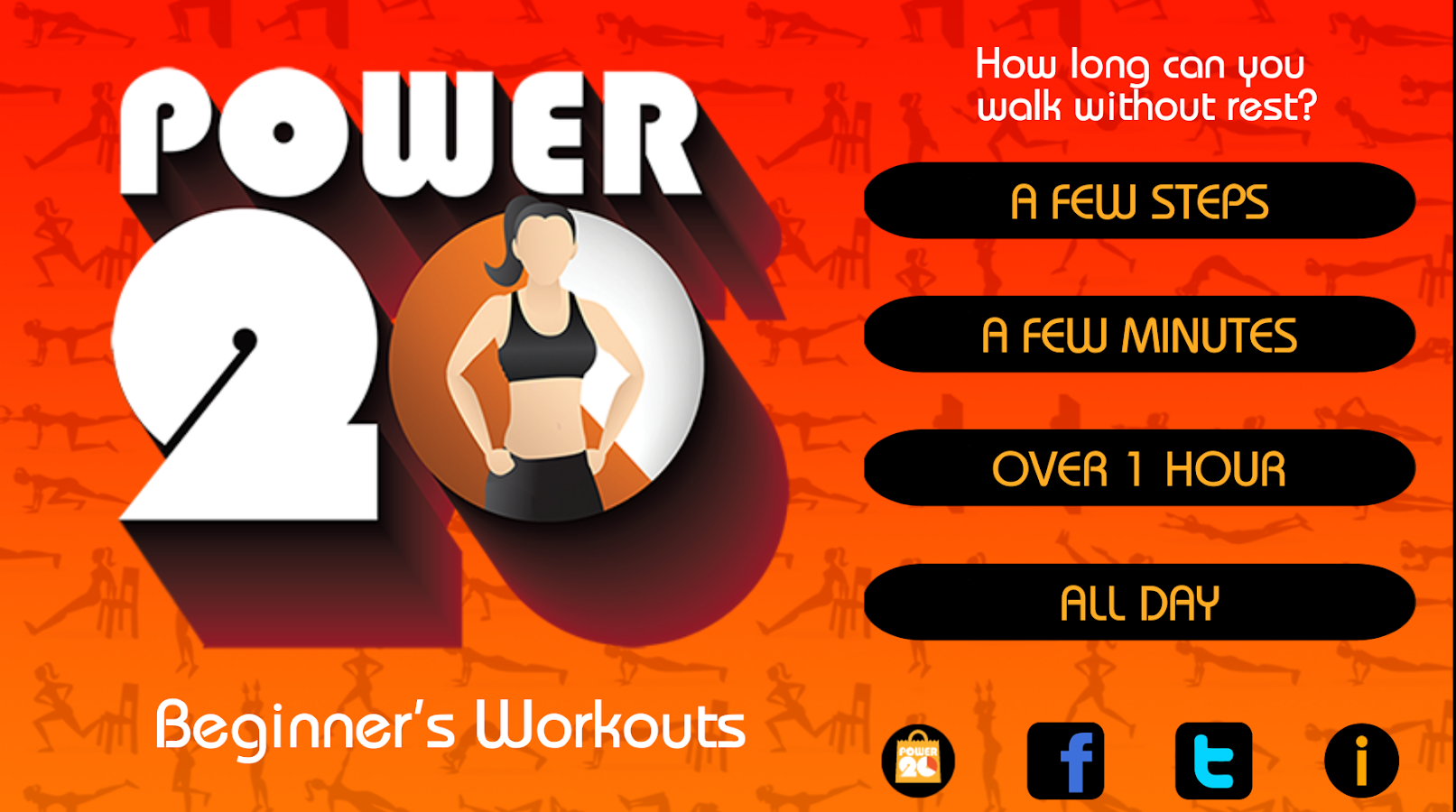 20 Minute Beginners Workout Screenshot
