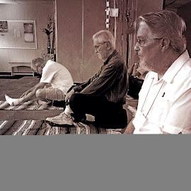 Yoga Trio by Allen Crenshaw - People Portraits of Men ( texas, trio, men, yoga, photography, portrait )