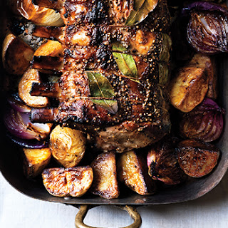 Cider-Brined Pork Roast with Potatoes and Onions