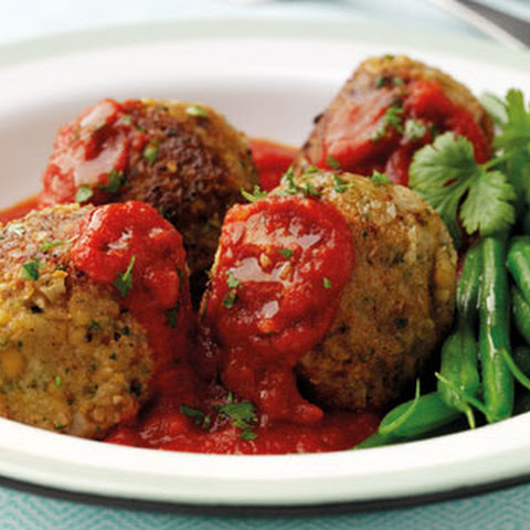 Oat And Chickpea Dumplings With Tomato Sauce