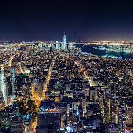 Mankind by Matt Horspool - City,  Street & Park  Skylines ( skyline, skyscrapers, empire state building, manhattan, cityscape, nyc, hudson river, city )