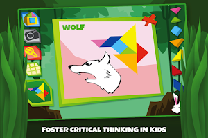 Screenshot of Tangram Puzzles: Wild Animals