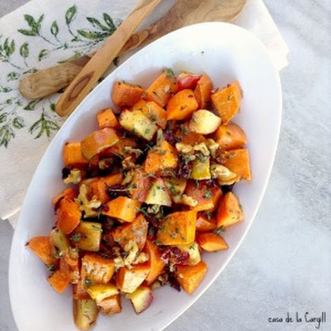Roasted Apple Sweet Potato Salad