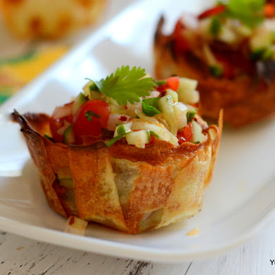 BAKED POTATO CHIP CUPS | HAND-HELD SNACK BITES