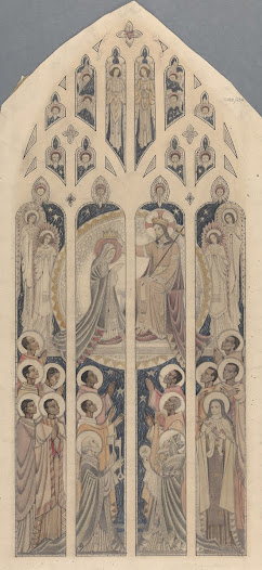 This tinted pencil drawing also includes twelve African saints, and may indicate that the commission was linked to missionaries in Africa.