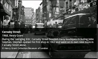 Screenshot of Museum of London: Streetmuseum