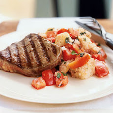 Grilled Beef Panzanella with Port Wine Vinaigrette