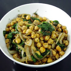 Spinach with Chickpeas and Fresh Dill