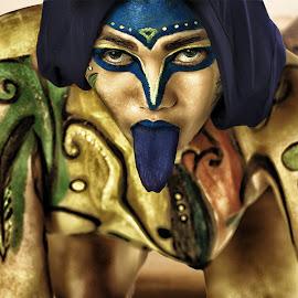 snake tongue by Michael Karakinos - People Body Art/Tattoos