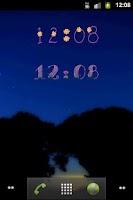 Screenshot of Flowers Digital Clock Widget