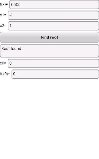 Root Finder