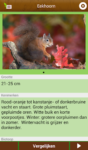 Veldgids - screenshot