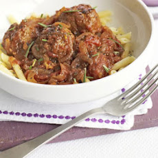 Lamb Meatballs With Rosemary Tomato Sauce