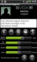 Screenshot of SVOX Hungarian/Magyar Mariska