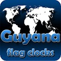 Guyana flag clocks icon