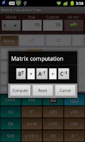 Screenshot of Matrix Calculator Free