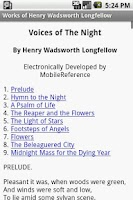 Screenshot of Works of Henry Longfellow