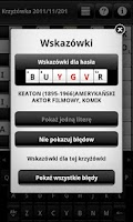 Screenshot of Krzyżówki (Crosswords)