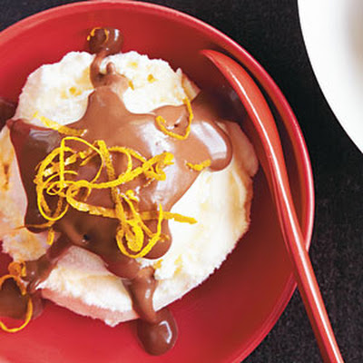 Chocolate-Orange Sauce Sundaes